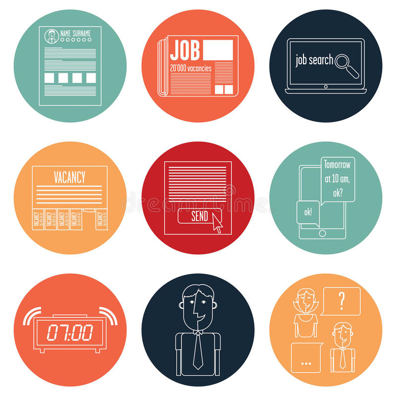 Set icons stock illustration