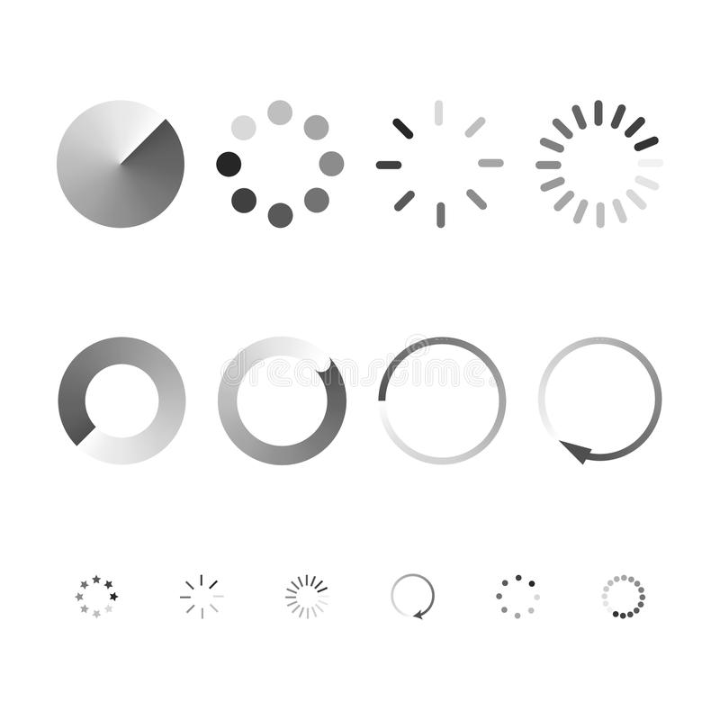 Set of icons showing the load. Vector art stock illustration