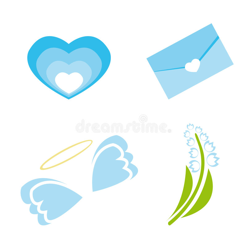 Set Of Icons For St. Valentine Day Stock Photography