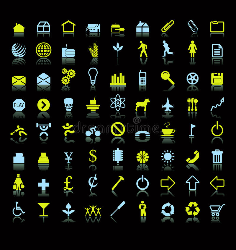 Set of icons or symbols