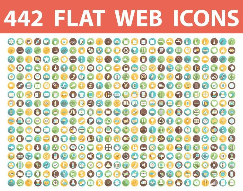Set of icons, symbols, signs, emblems. flat web vector illustration