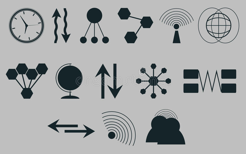 Set of icons on a theme communications.Vector stock illustration