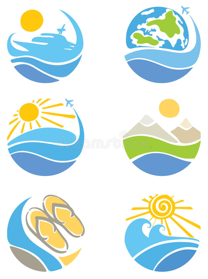 Download A Set Of Icons - Travel, Tourism And Leisure Stock Photos - Image: 21749143