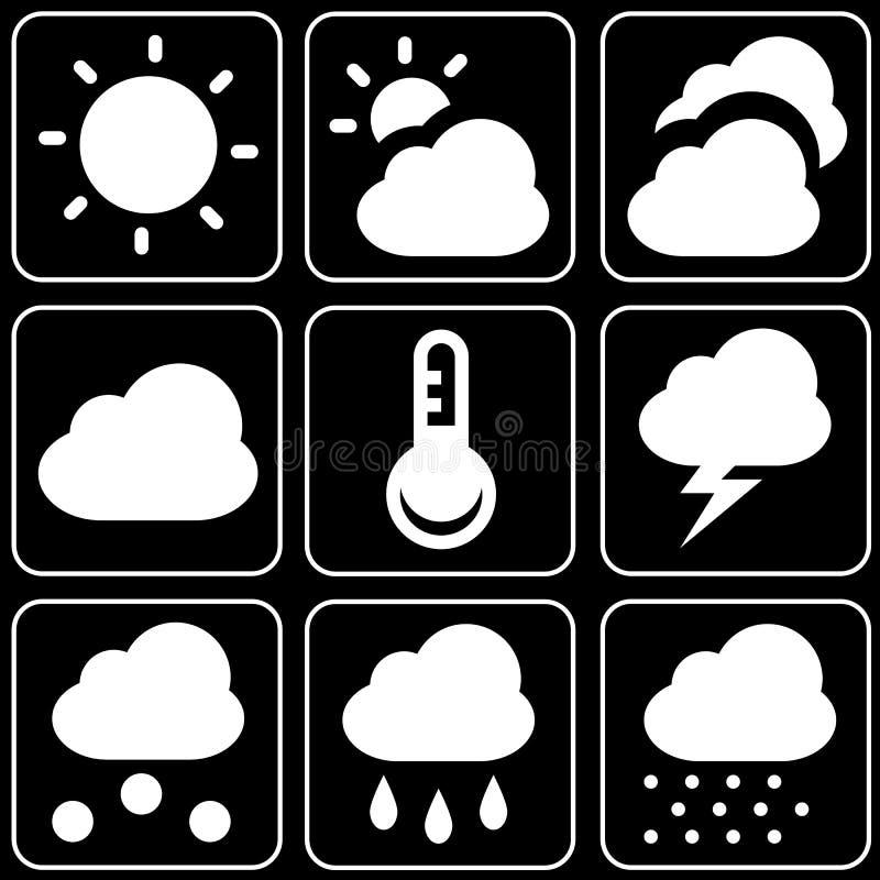 Set of icons (weather forecast)