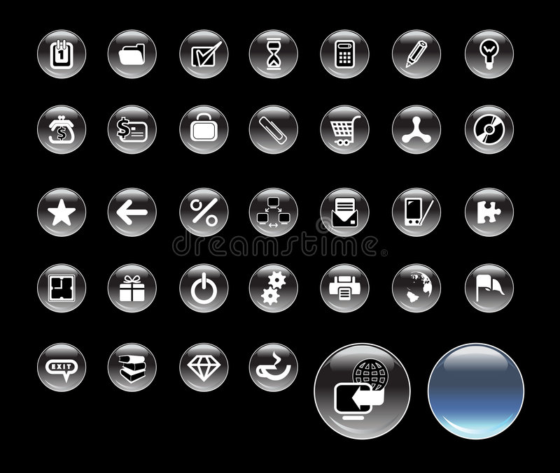 Set_of_icons_for_website illustration de vecteur