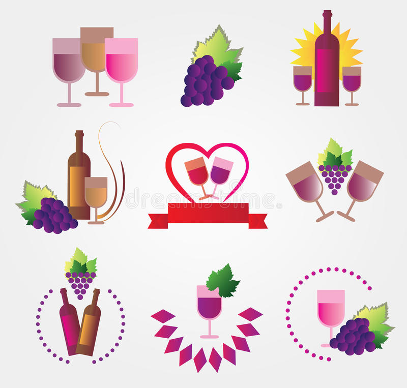 Download Set of icons stock vector. Image of illustrations, drink - 43230911
