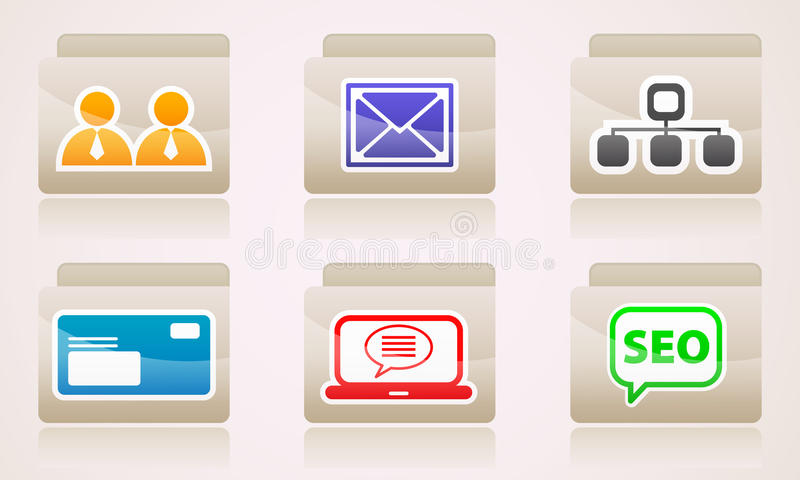 Download Set Of Icons For Your Desktop Folders Web Stock Vector - Image: 40006620