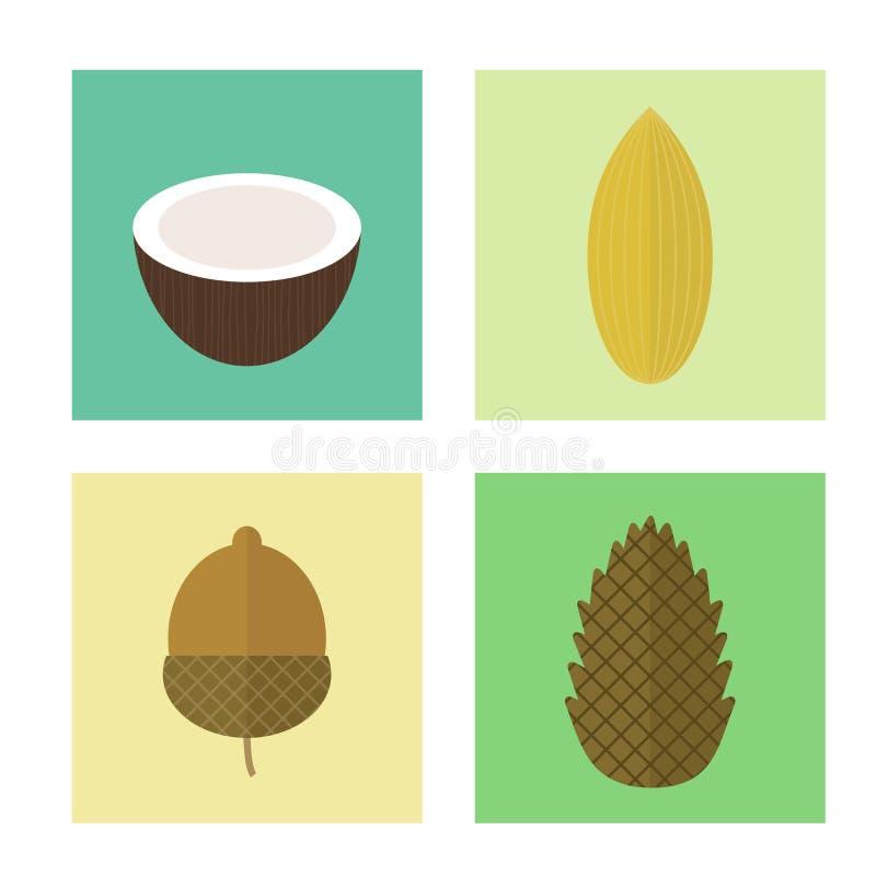 Set ikon dokrętki Wektorowi elementy dla projekta ilustracji