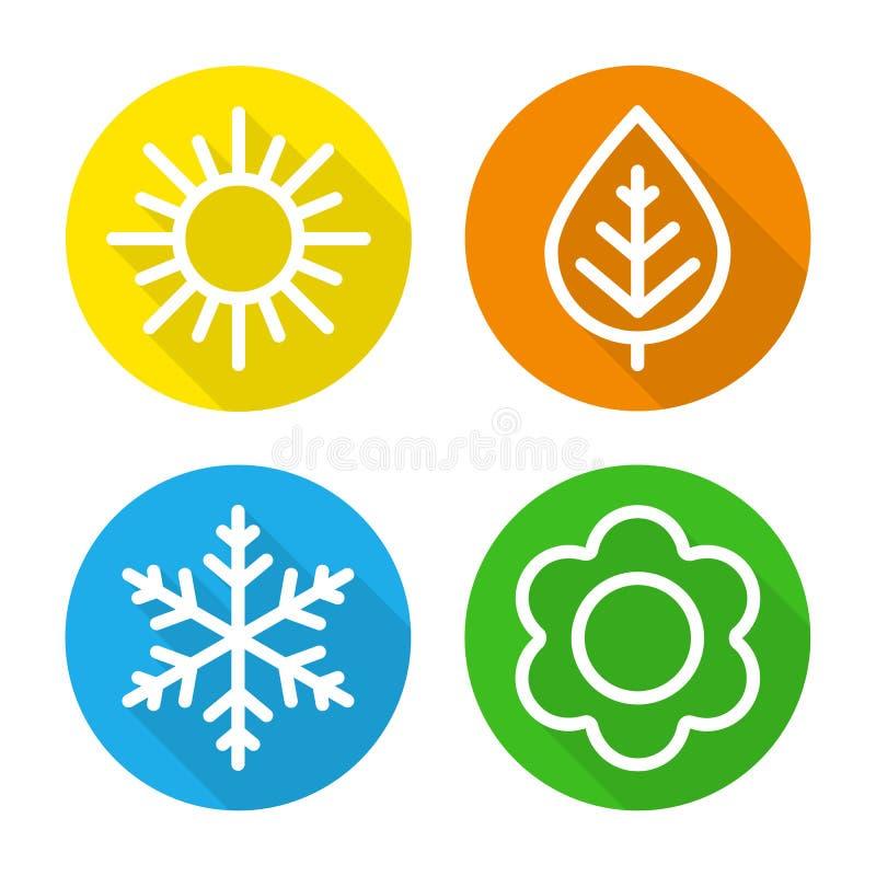 Set ikona sezony ilustracji