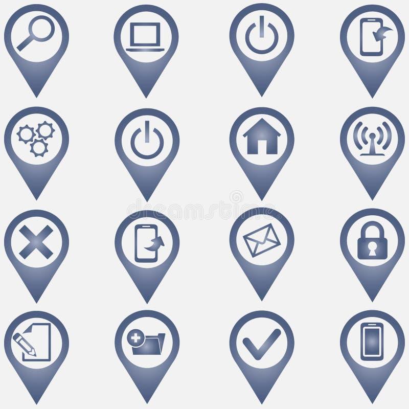 Set Ikonen des Computers icons stock abbildung