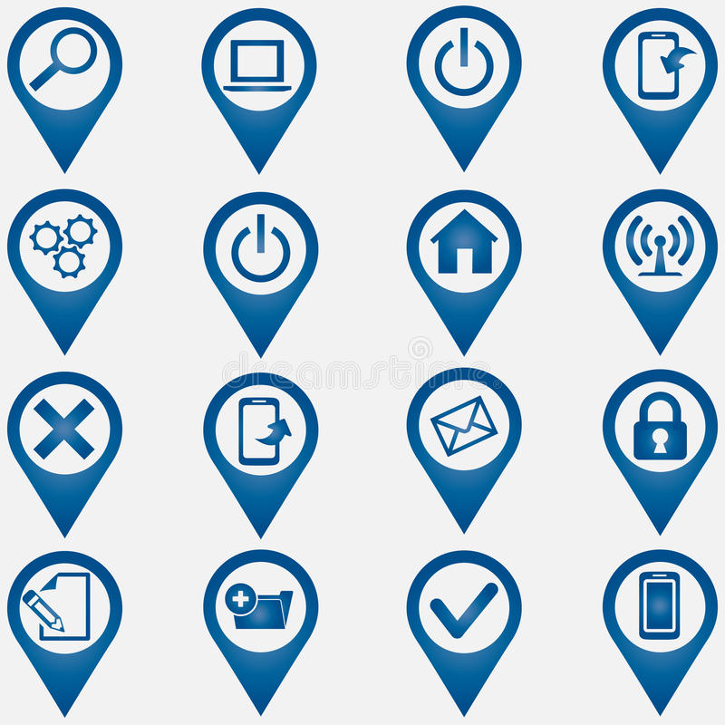 Set Ikonen des Computers icons lizenzfreie abbildung