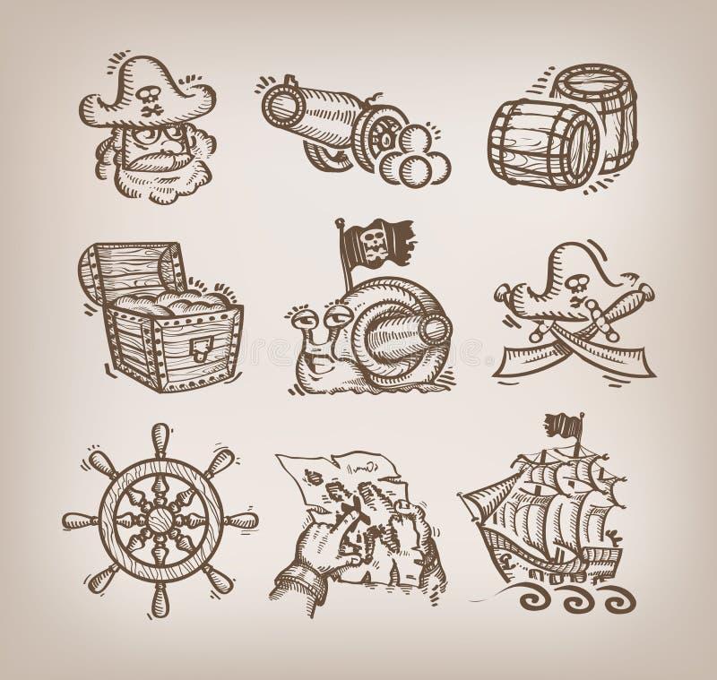 Set ikony. royalty ilustracja