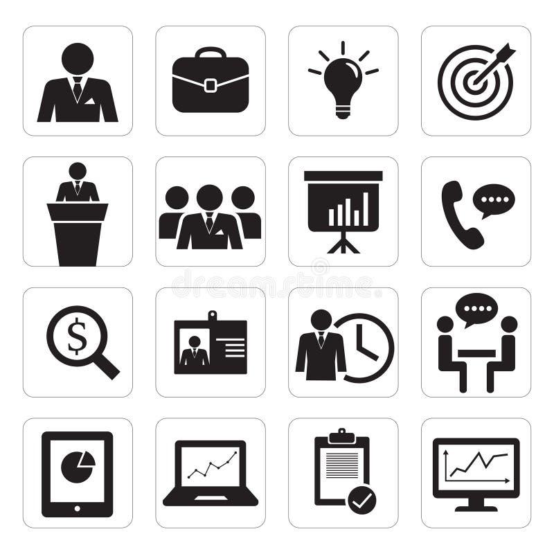 Set ikony biznesowy biuro obraz royalty free
