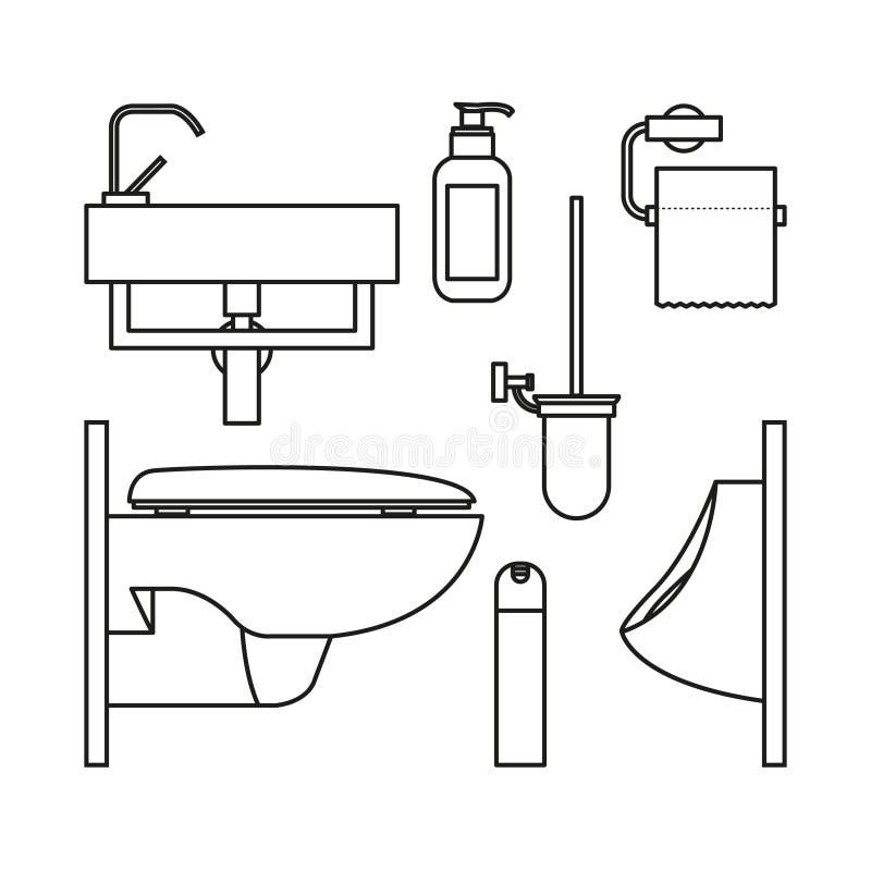 Set ikony dla WC royalty ilustracja
