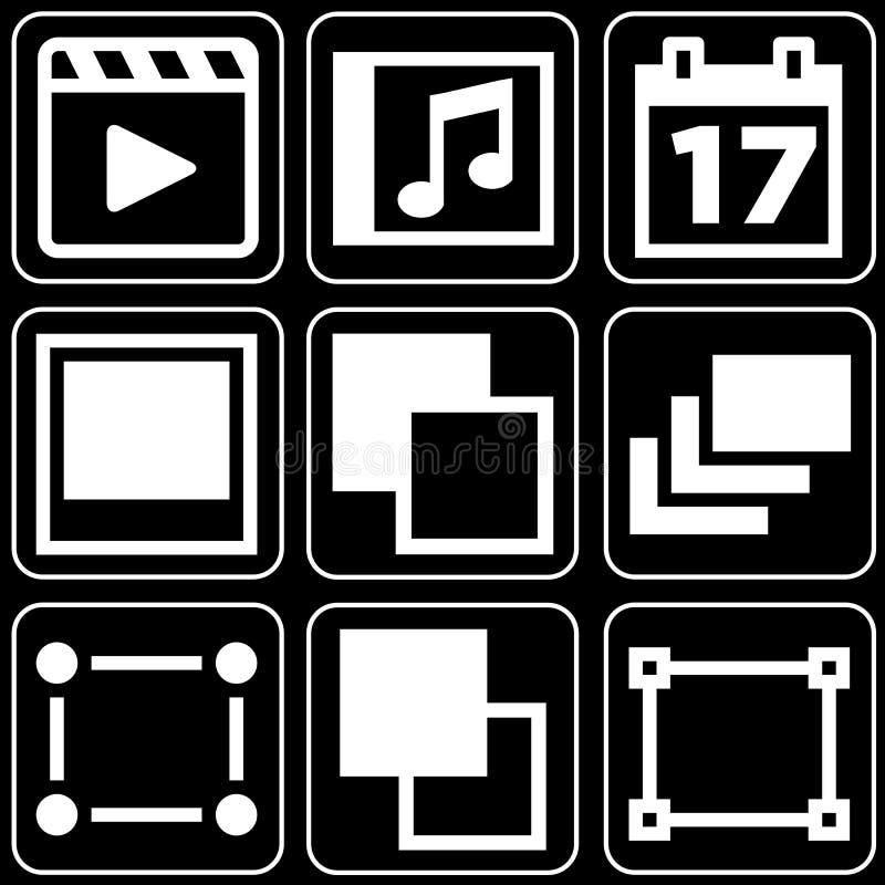 Set ikony (film, inny) royalty ilustracja