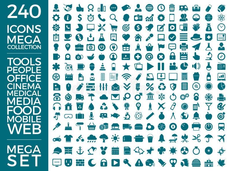 Set ikony, ilości cechy ogólnej paczka, Dużej ikony Inkasowy Wektorowy projekt ilustracji