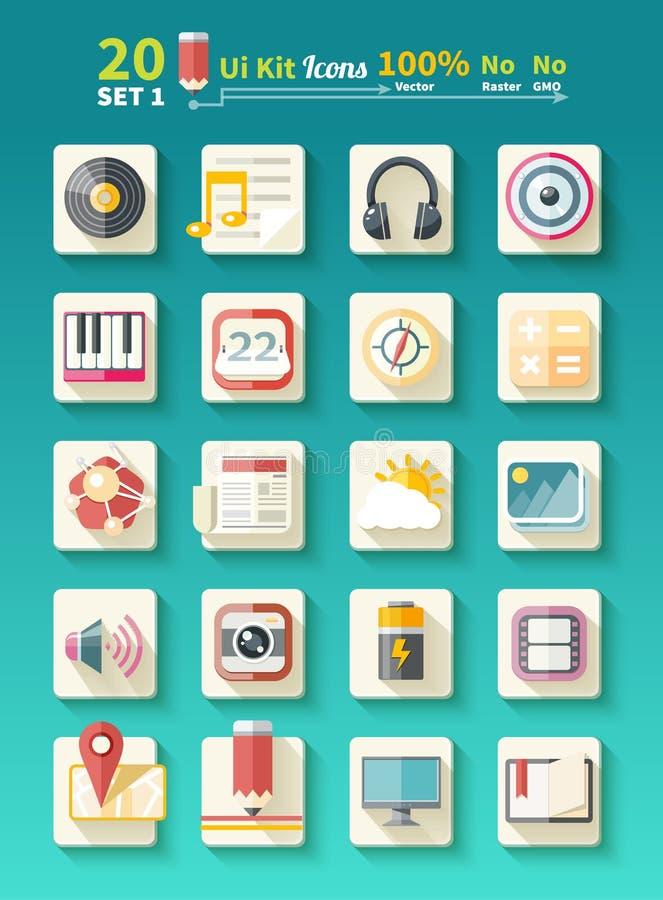Set ikony muzyczne dla app royalty ilustracja