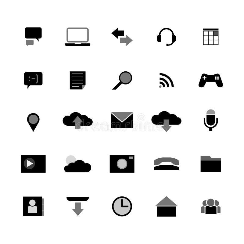 Set ikony w stylowej pastylce s - wektorowa grafika royalty ilustracja