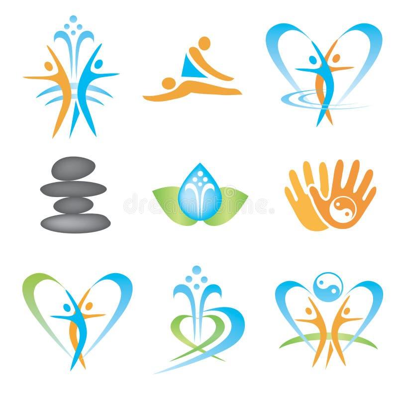 Spa_massage_health_icons royalty ilustracja