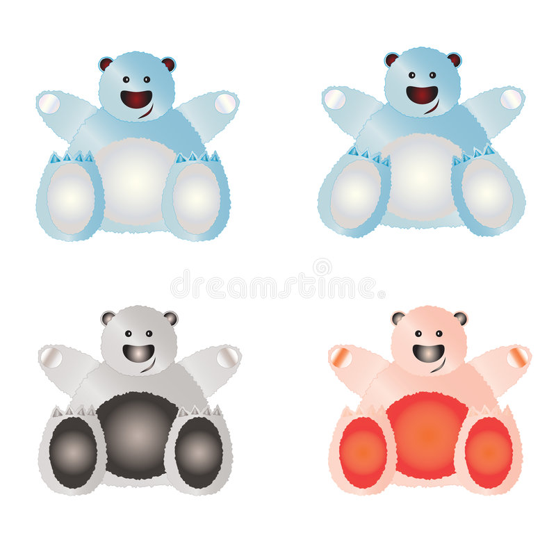 Download Set of illustrated bears. stock illustration. Image of illustrated - 7321372