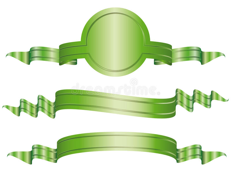 Download Set Of  Illustrated Bow Banners Stock Illustration - Image: 13250911