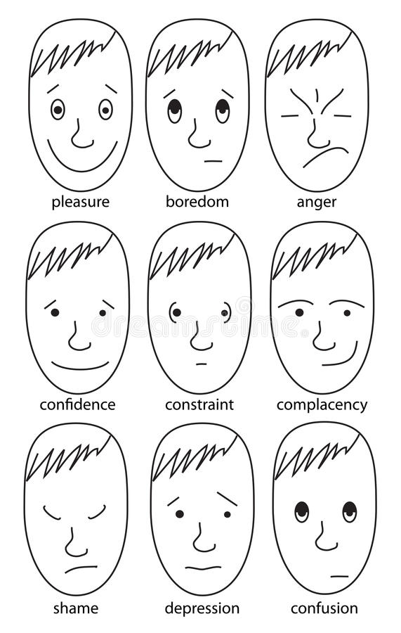 Download Set Of Illustrations Expressing Various Feelings Stock Illustration - Image: 18373960