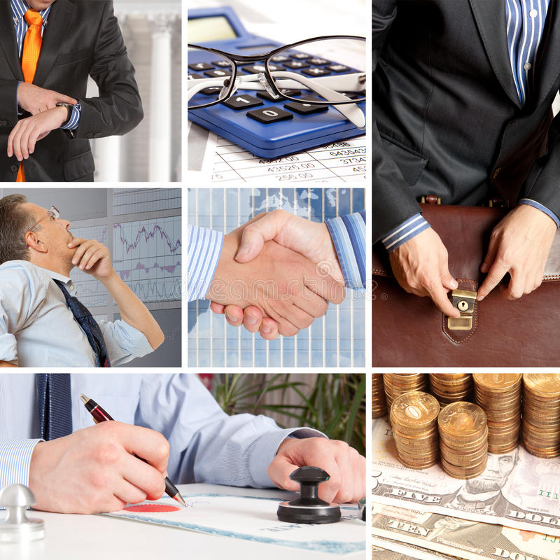 Set of image business stock image