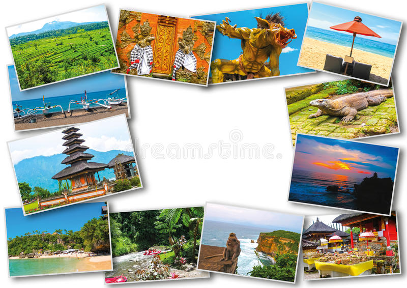 Set from images with views of Bali island. Set of images with views of Bali island, Indonesia stock images