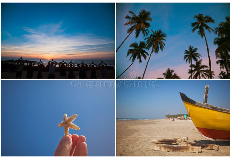 Set of India travel royalty free stock photography