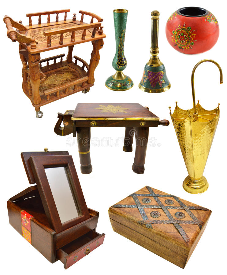Download Set Of Indian Interior Objects And Furniture Stock Photo   Image:  45411060