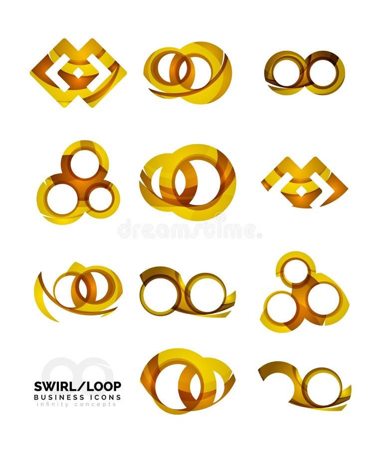 Set of infinity concepts, loop logo designs vector illustration