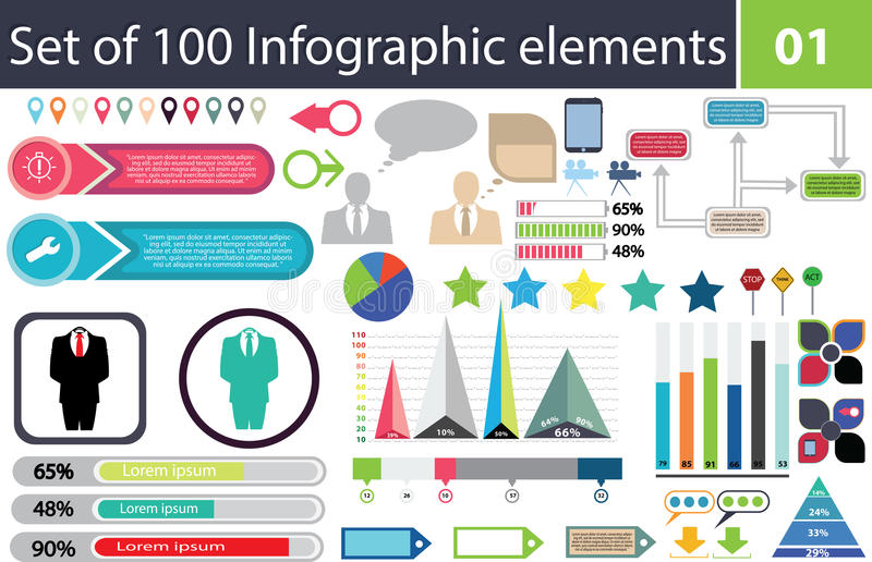 Set of 100 infographic elements icon pack charts graphics download set of 100 infographic elements icon pack charts graphics coloured ccuart Image collections