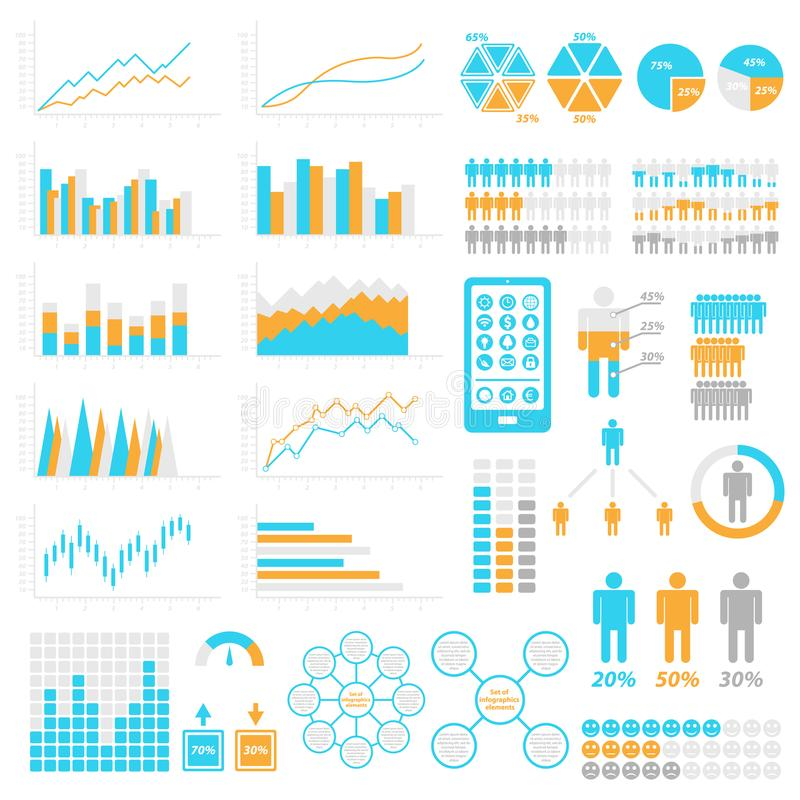 Set of infographic elements. Templates for infographic. Elements and icons collection. Vector illustrations vector illustration