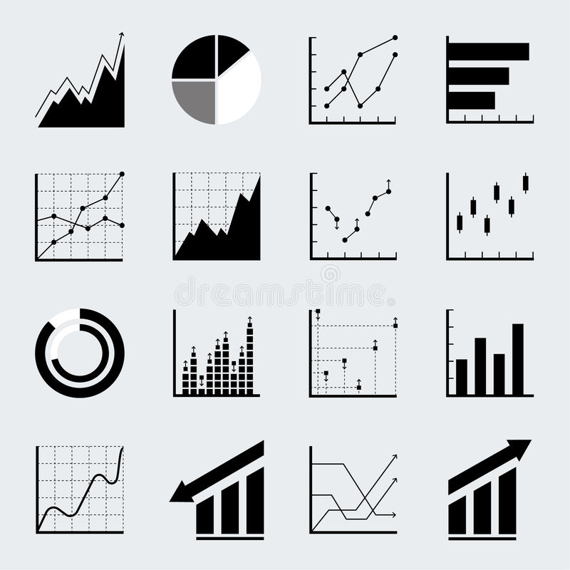 set infographic  icons  stock vector