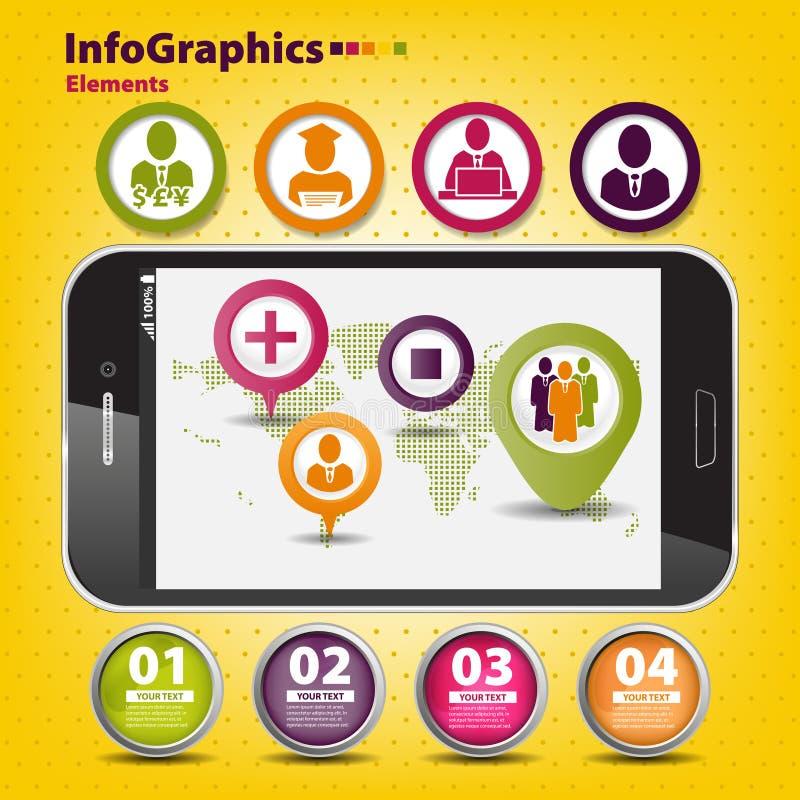 Set infographic na pracie zespołowej w biznesie royalty ilustracja
