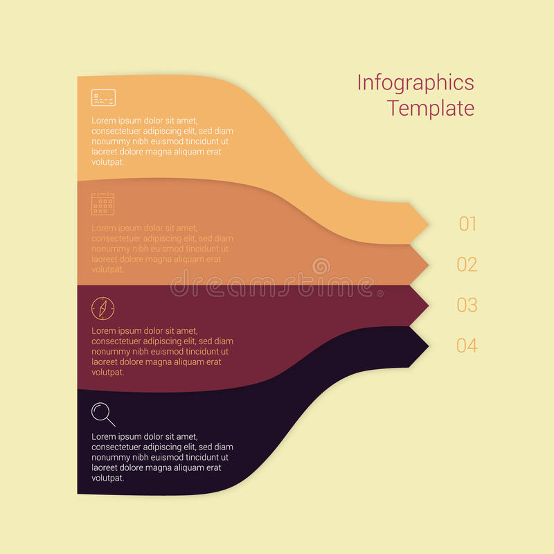 Set of infographic template layouts. Flow chart. Set of modern Design Minimal style infographic template layout. Infographics, numbered banner, horizontal cutout stock illustration