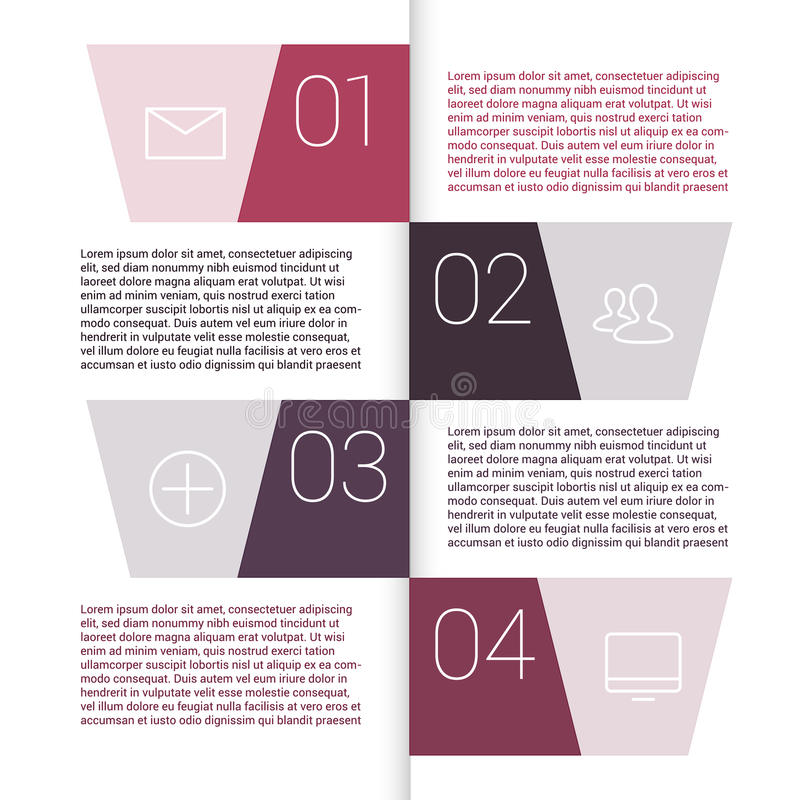 Set of infographic template layouts. Flow chart vector illustration