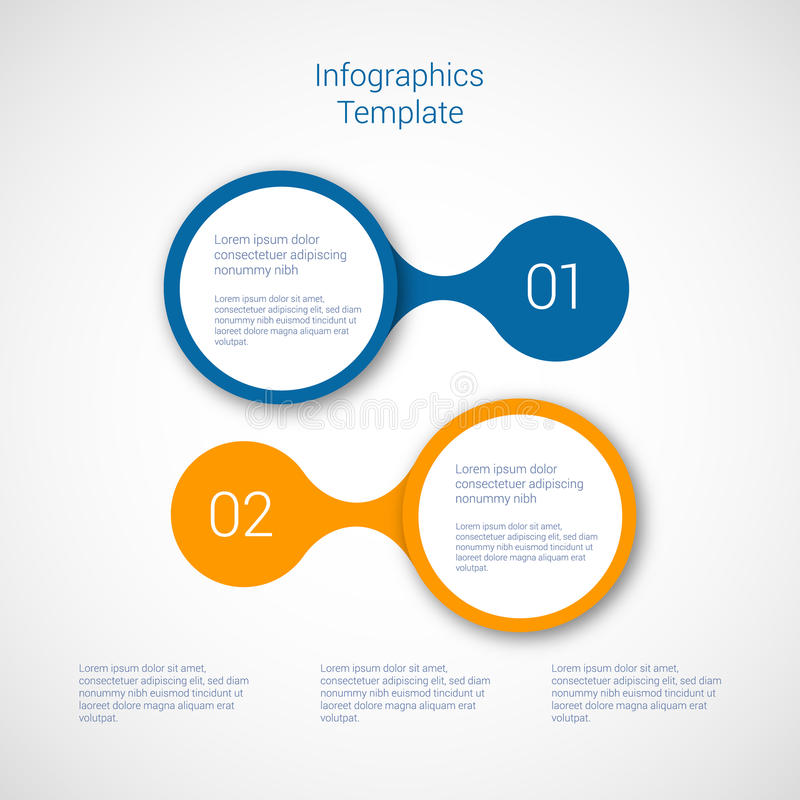 Set of infographic template layouts. Flow chart royalty free illustration