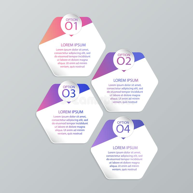 Set of infographic templates. Infographic templates for your business or website royalty free illustration
