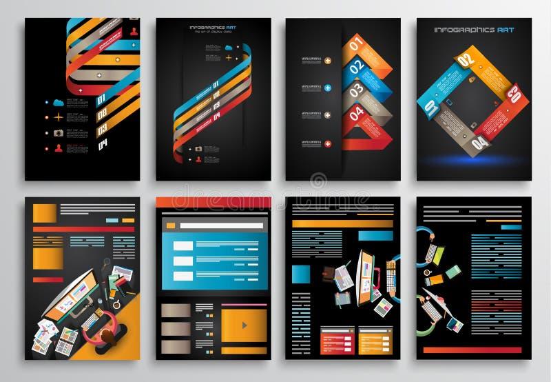 Set of Infographics, Flyer and Brochure Designs, vector illustration