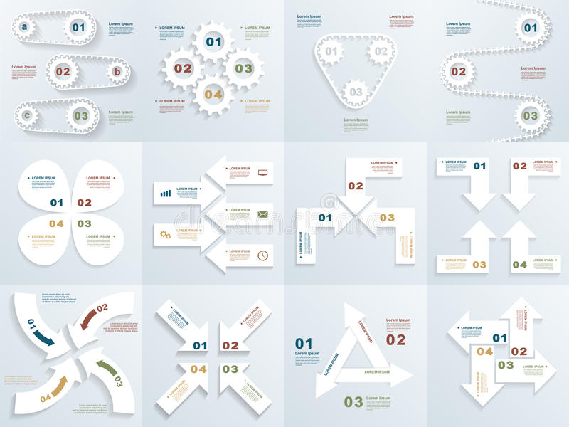 Set of infographit templates vector illustration