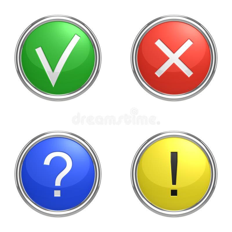 Set of information icons stock illustration
