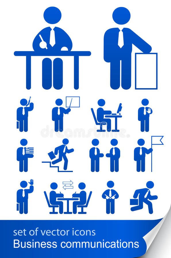 Download Set Informational Business Icon Stock Vector - Image: 17361626