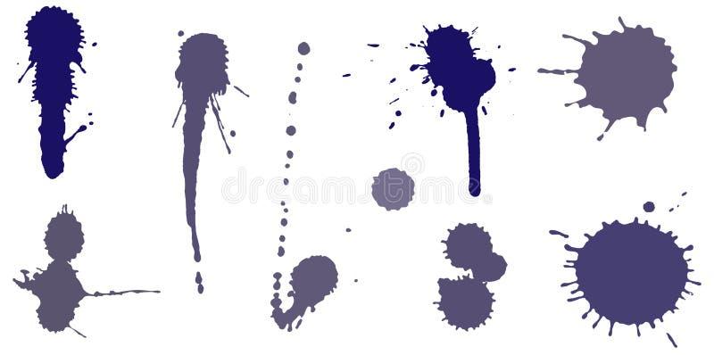 Download Set of ink splashes stock vector. Image of blot, modern - 22382340