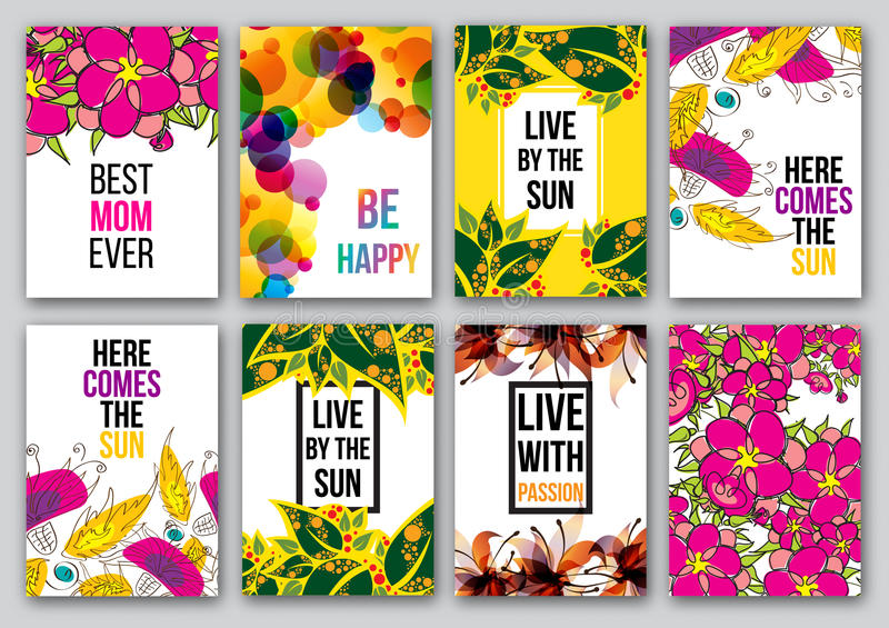 Download Set Of Inspirational Posters Stock Vector