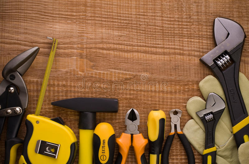 Download Set Of Instruments On Board Wiht Copyspace Stock Image - Image: 19159063