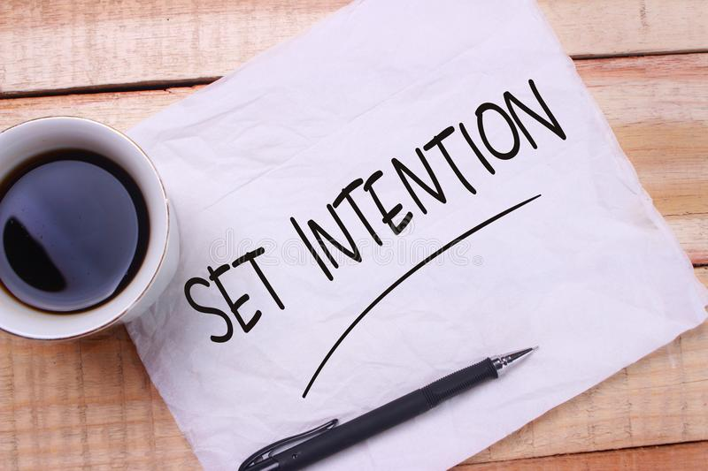 Set Intention. Motivational Text royalty free stock photography