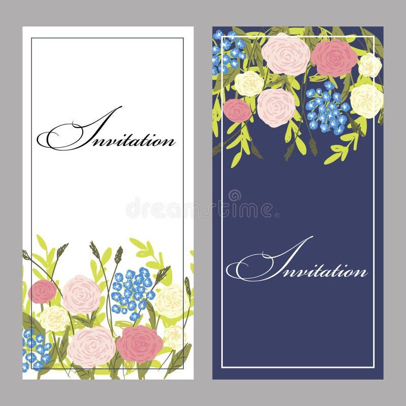 Download Set of invitations stock illustration. Illustration of decorative - 32360005