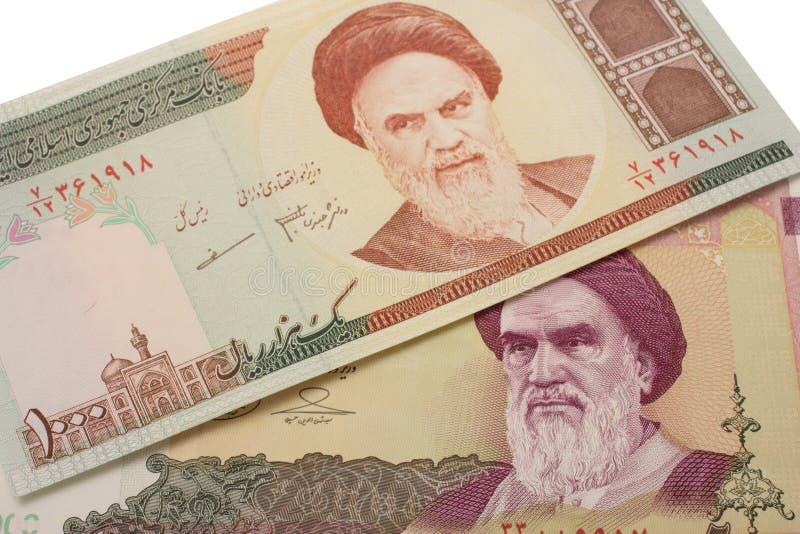 Set Irańskich riali banknoty obrazy royalty free