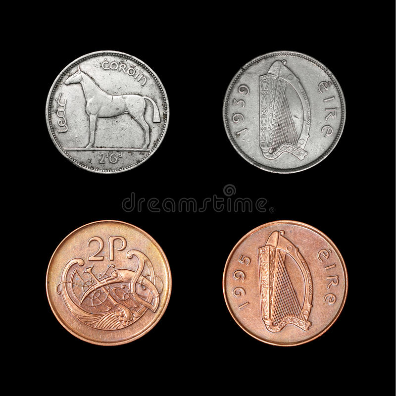 Set Irlandia monety obrazy stock